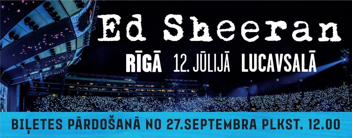 Nākamvasar Rīgā uzstāsies sensacionālais dziesminieks Eds Šīrans